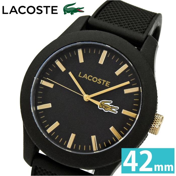 ラコステ LACOSTE 2010818 (66)時計 腕時計 メンズ レディース ユニセックスブラック ゴールド ラバー
