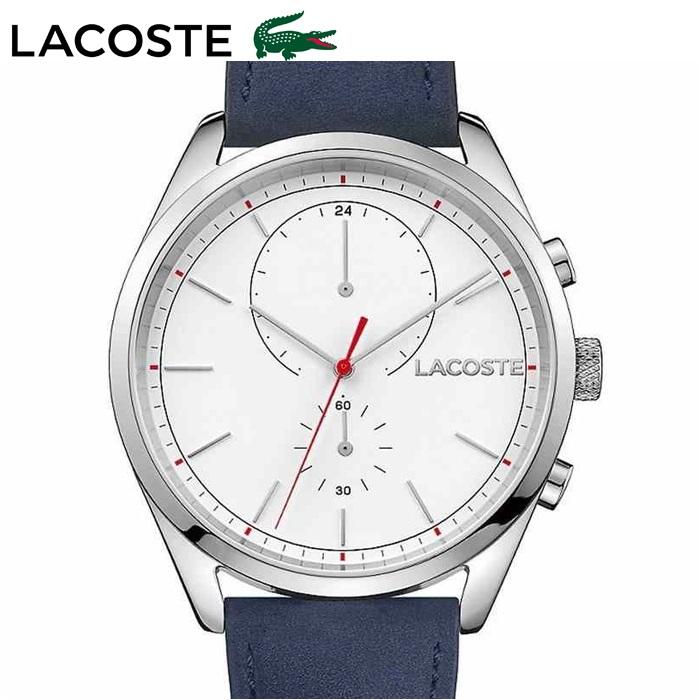 ラコステ LACOSTE 2010916 (107)時計 腕時計 メンズホワイト ネイビー レザー