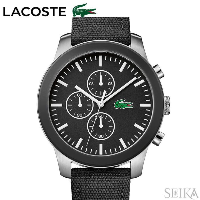 【商品入れ替えクリアランス】ラコステ LACOSTE 2010950 (133)時計 腕時計 メンズブラック レザー