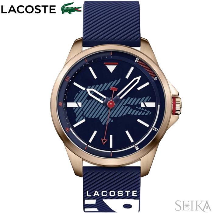 【レビューを書いて5年保証】【スプリングクリアランス】ラコステ LACOSTE 2010964(183)時計 腕時計 メンズ ネイビー ラバー 青い腕時計 父の日