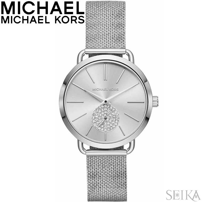 マイケルコース MICHAEL KORS MK3843時計 腕時計 レディース シルバー メッシュ