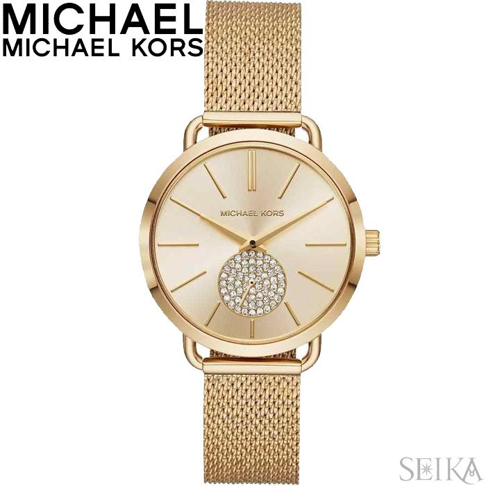 【レビューを書いて5年保証】マイケルコース MICHAEL KORS MK3844時計 腕時計 レディース ゴールド メッシュ ギフト