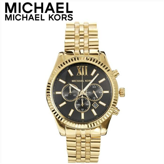 【クリアランス】マイケルコース MICHAEL KORS レディース 時計【MK8286】ブラック×ゴールド レキシントン【ID】