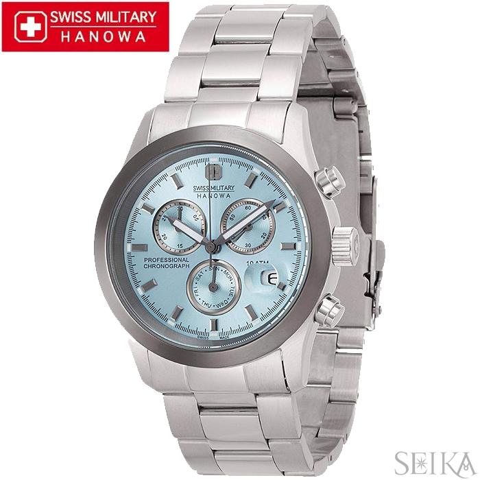 スイスミリタリー SWISS MILITARY エレガント ML369(13)時計 腕時計 メンズ ブルー 青い腕時計