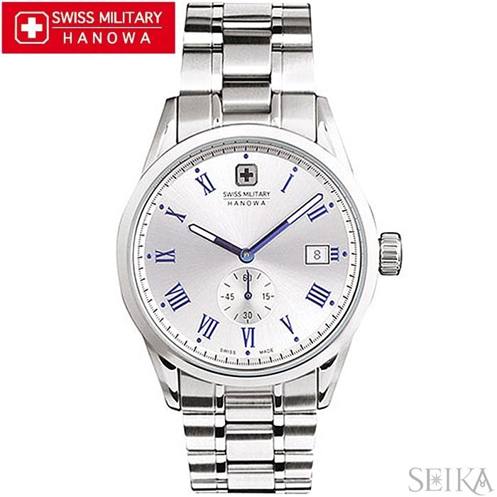 【レビューを書いて5年保証】【スプリングクリアランス】スイスミリタリー SWISS MILITARY ローマン ML401(16)時計 腕時計 メンズ シルバー 父の日
