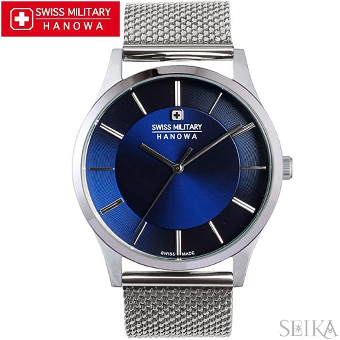 【レビューを書いて5年保証】【サマークリアランス】スイスミリタリー SWISS MILITARY プリモ ML434(19)時計 腕時計 メンズ ネイビー メッシュ 青い腕時計 ギフト