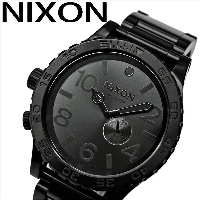 (特典付き!)ニクソン NIXON A057001 A057-001時計 腕時計 メンズ51-30 TIDE フィフティーワンサーティー タイドブラック オールブラック