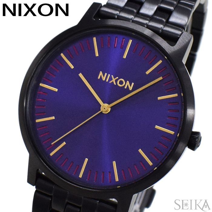 【レビューを書いて5年保証】ニクソン NIXON ポーター A105-72693 A10572693時計 腕時計 メンズ レディース ユニセックス パープル ブラック ギフト