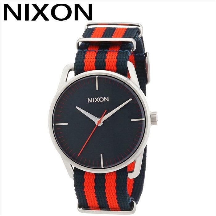 ニクソン NIXON メラー サープラスA1291152 腕時計 時計 メンズネイビー レッド NATO ナイロン