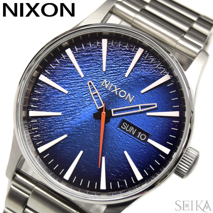 【レビューを書いて5年保証】ニクソン NIXON セントリーSS A356-2660 A3562660 時計 腕時計 メンズ ブルー シルバー(D10)美しいグラデーションブルー 父の日