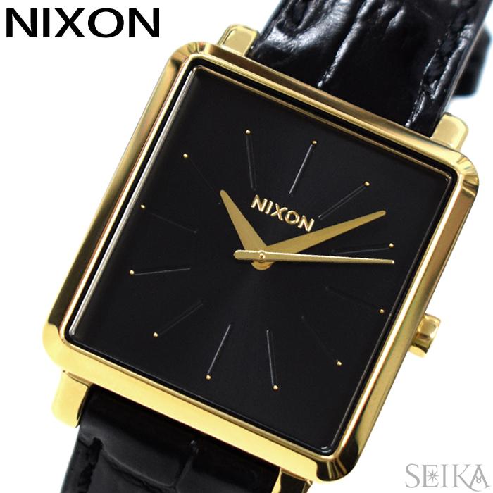 【レビューを書いて5年保証】ニクソン NIXON Kスクエアード A472-2022 A4722022 時計 腕時計 レディース ブラック レザー(D10)