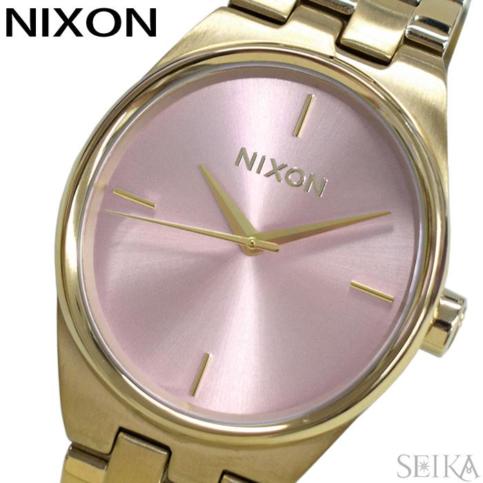 【レビューを書いて5年保証】ニクソン NIXON アイドル A953-2360 A9532360 時計 腕時計 レディース ピンク ライトゴールド(D10) ギフト