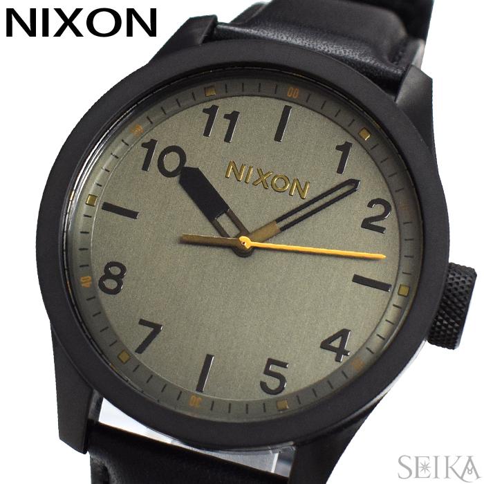 【レビューを書いて5年保証】ニクソン NIXON サファリレザー A975-2430 A9752430 時計 腕時計 メンズ ブラック(D10) ギフト