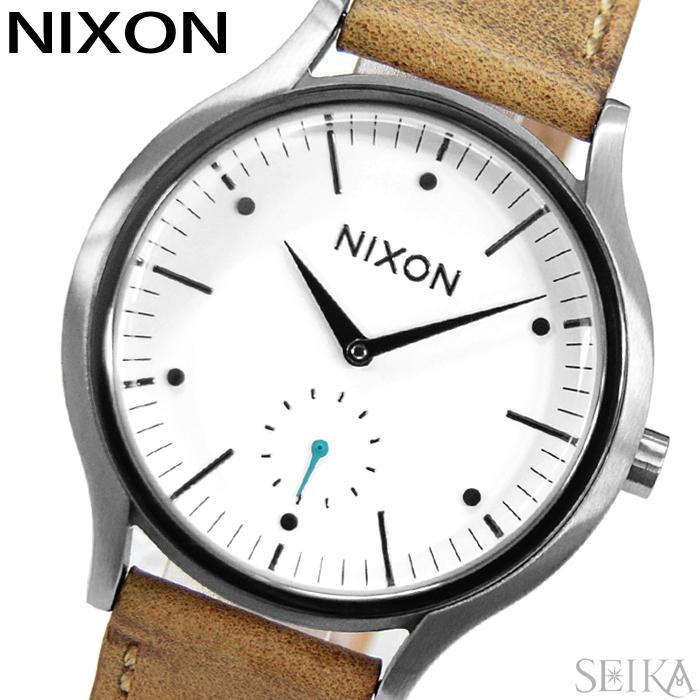 【レビューを書いて5年保証】【サマークリアランス】ニクソン NIXON サラレザー A995-2364 A9952364 時計 腕時計 レディース ホワイト ブラウン(D10)【0703】 ギフト