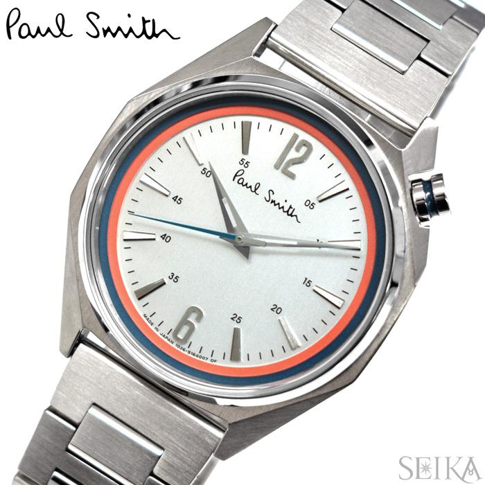 【レビューを書いて5年保証】ポールスミス PAUL SMITH BT4-117-91(34) Octagon 時計 腕時計 メンズ シルバー 父の日