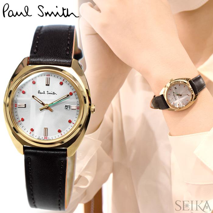 【レビューを書いて5年保証】ポールスミス PAUL SMITH KP7-029-90(28) Closed eyes mini 時計 腕時計 レディース ブラウン レザー ソーラー