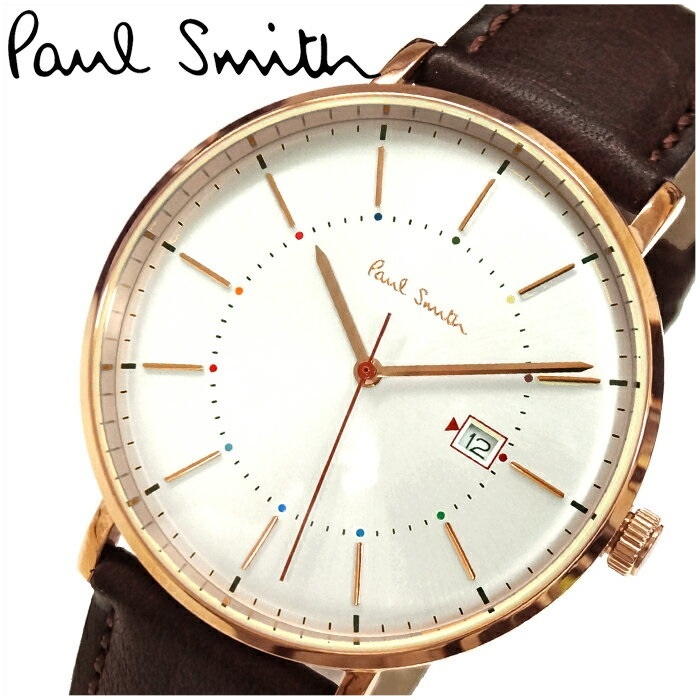 ポールスミス PAUL SMITH P10082腕時計 メンズ ブラウン レザー