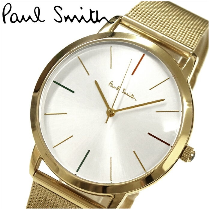 ポールスミス PAUL SMITH 腕時計 メンズ【P10092】シルバー×ゴールド メッシュ【ID】