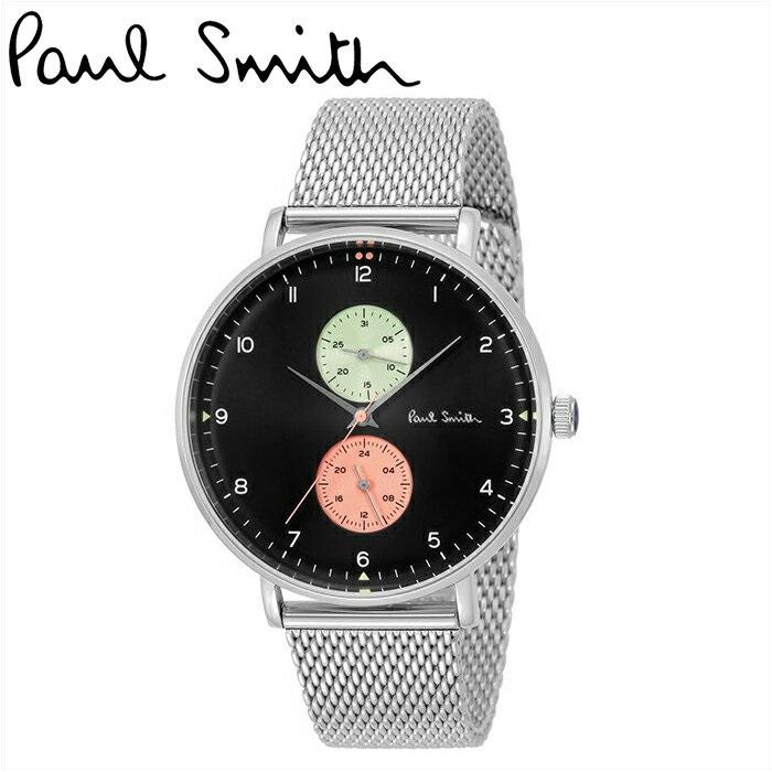 ポールスミス PAUL SMITH腕時計 メンズPS0070006 ブラック シルバーメッシュ【ID】