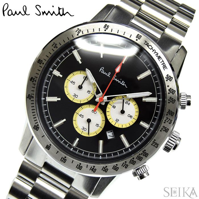 【レビューを書いて5年保証】ポールスミス PAUL SMITH PS0110007(51) 時計 腕時計 メンズ ブラック シルバー クロノグラフ ギフト