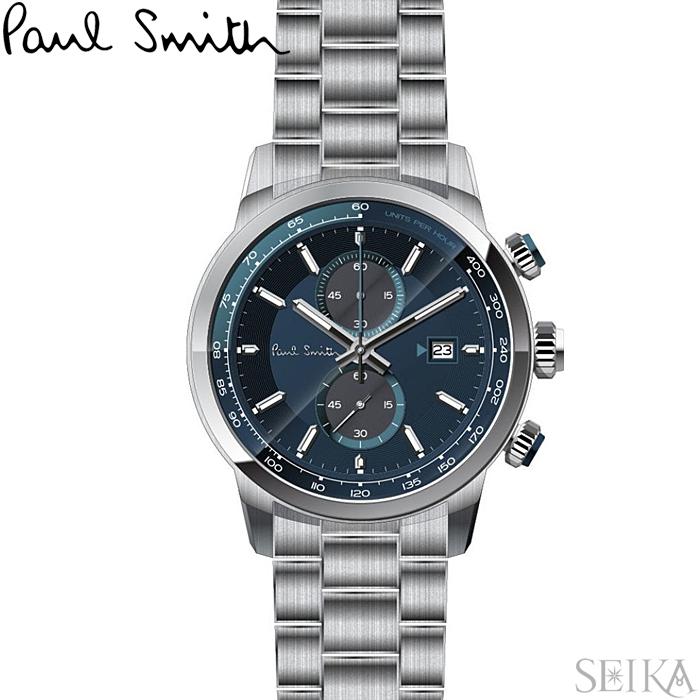 ポールスミス PAUL SMITH PS0110023腕時計 メンズ ネイビー シルバー