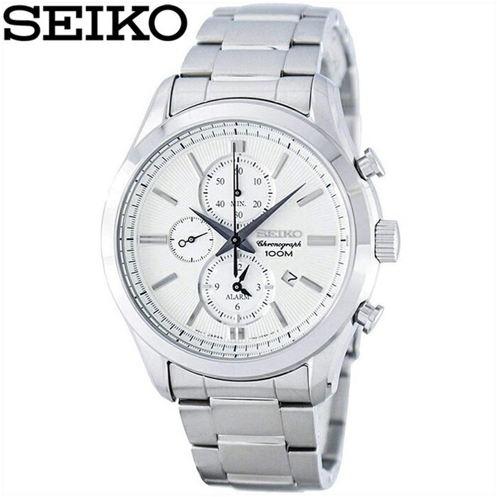 セイコー SEIKO SNAF63P1(65)時計 腕時計 メンズ シルバー海外モデル 逆輸入【ID】
