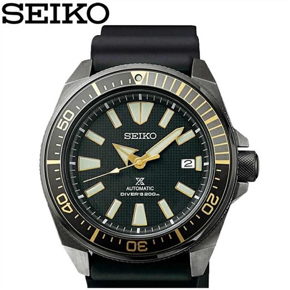 (特典付き!)セイコー SEIKO SRPB55K1(57)プロスペックス サムライ ダイバーズ 自動巻き時計 腕時計 メンズ ブラック ラバー海外モデル 逆輸入【20気圧防水】【200M防水】【ID】