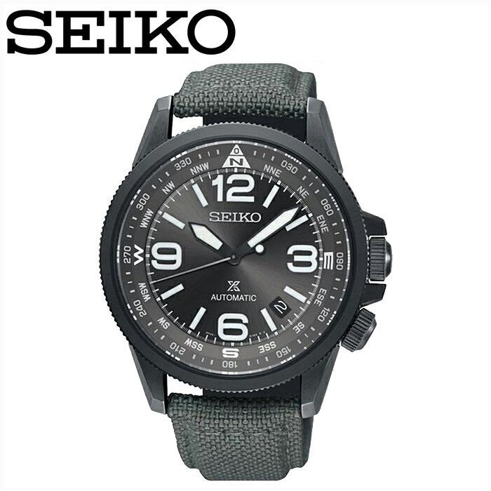 セイコー SEIKO SRPC29K1(20)プロスペックス 自動巻き時計 腕時計 メンズ グレー クロスレザー海外モデル 逆輸入