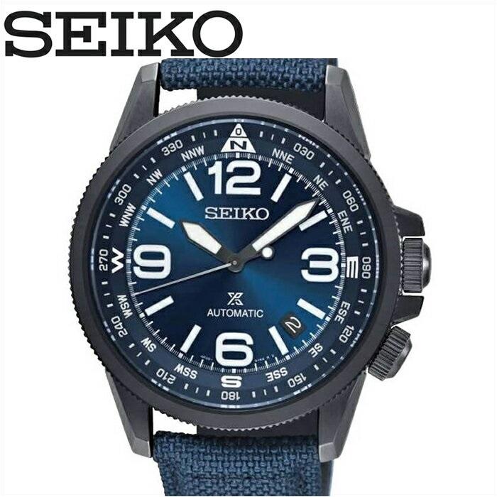 (特典付き!)セイコー SEIKO SRPC31K1(48)プロスペックス時計 腕時計 メンズ ネイビー レザー自動巻き 逆輸入【ID】