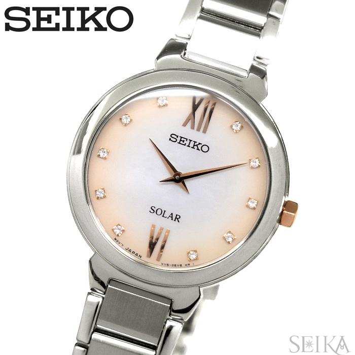 セイコー SEIKO SUP381P1(59) ソーラー時計 腕時計 レディース シルバー海外モデル 逆輸入【ID】