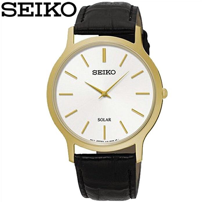 【クリアランス】セイコー SEIKO SUP872P1(60) ソーラー時計 腕時計 メンズ レディース ユニセックス ブラック レザー海外モデル 逆輸入【G2】