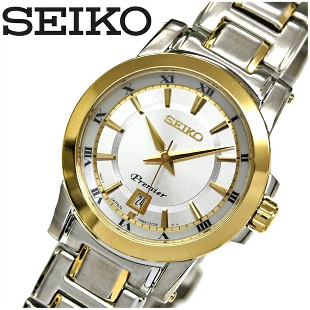 セイコー SEIKO SXDF44P1(39)プルミエ 時計 腕時計 レディースシルバー ゴールド海外モデル 逆輸入【G2】