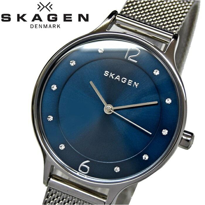 スカーゲン SKAGENSKW2307 時計 腕時計 レディースブルー シルバー【ID】