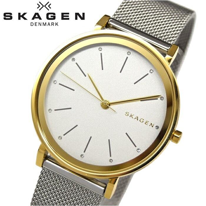 【クリアランス】スカーゲン SKAGEN SKW2508時計 腕時計 レディースクリスタル シルバー ゴールド