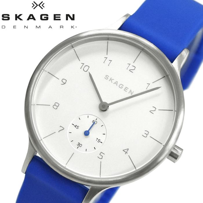スカーゲン SKAGEN skw2602 アニタ時計 腕時計 レディース ホワイト ブルー ラバー