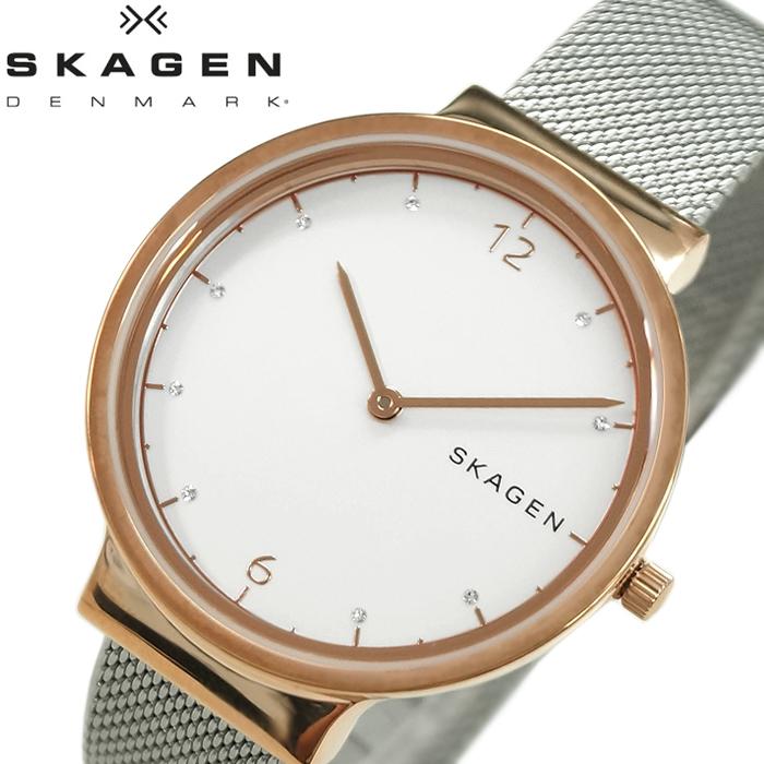【レビューを書いて5年保証】【スプリングクリアランス】スカーゲン SKAGENSKW2616 時計 腕時計 レディースAncher シルバー ホワイト ローズゴールド メッシュ【ID】 白い腕時計 プレゼント ホワイトデー