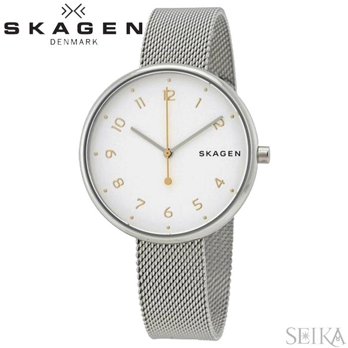 スカーゲン SKAGEN シグネチャー SIGNATUR SKW2623 時計 腕時計 レディースホワイト シルバー メッシュ
