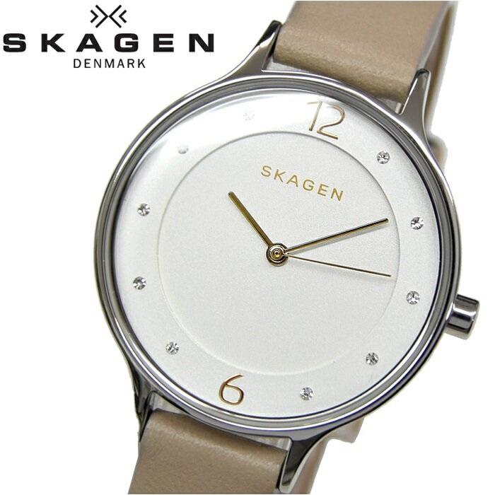 スカーゲン SKAGEN SKW2648時計 腕時計 レディースAnita アニタ シルバー ライトベージュ レザー【ID】