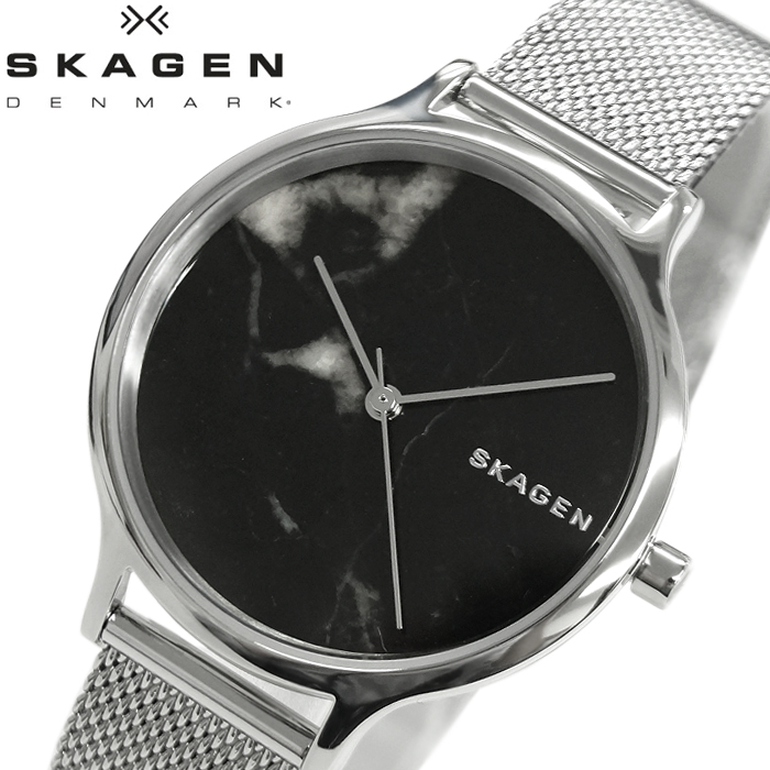 スカーゲン SKAGEN アニタ AnitaSKW2673 時計 腕時計 レディースブラック(大理石) シルバー メッシュ【ID】