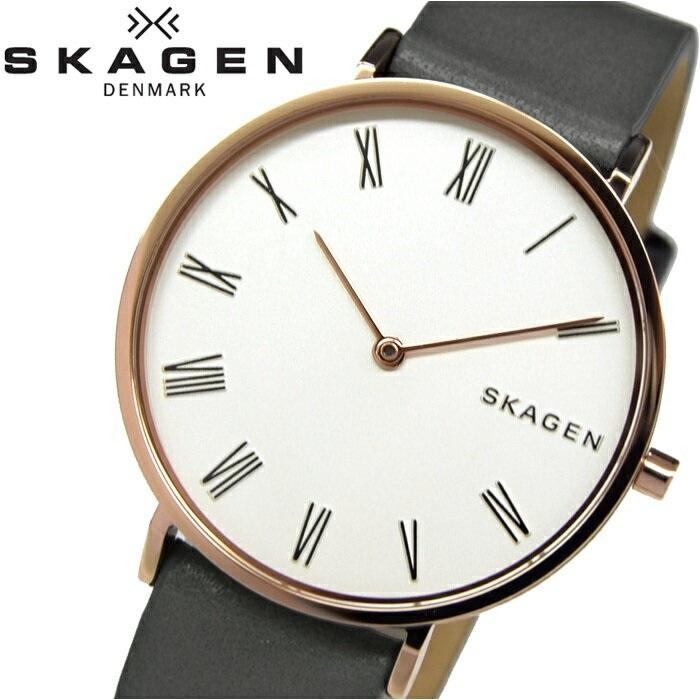 スカーゲン SKAGEN SKW2674時計 腕時計 レディースハルド ホワイト グレー レザー【ID】