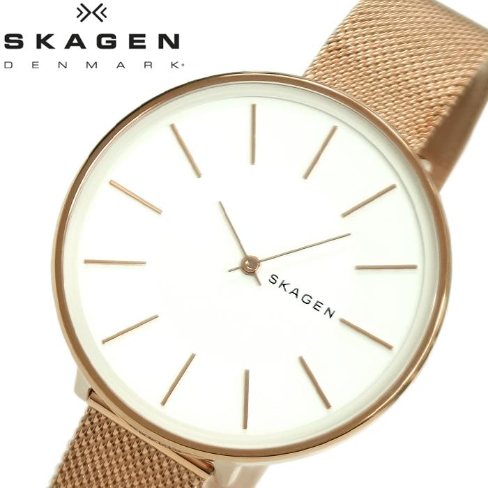 【レビューを書いて5年保証】【スプリングクリアランス】スカーゲン SKAGEN SKW2688 カロリーナ 時計 腕時計 レディース ホワイト ローズゴールド メッシュ 白い腕時計 プレゼント ホワイトデー