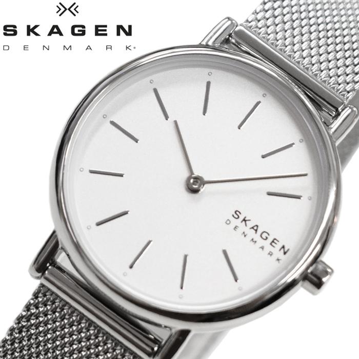 スカーゲン SKAGEN SKW2692 シグネチャー時計 腕時計 レディース ホワイト メッシュ【ID】