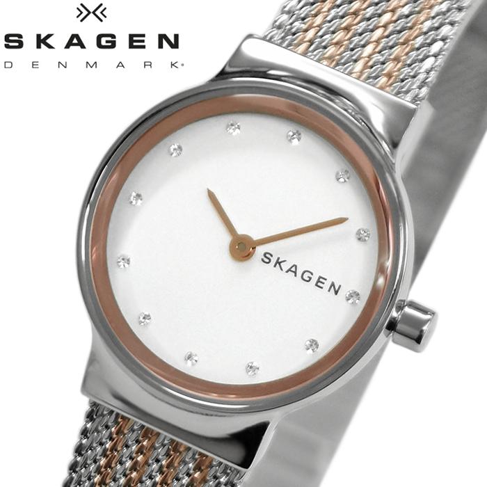 【レビューを書いて5年保証】【スプリングクリアランス】スカーゲン SKAGEN SKW2699 フレヤ 時計 腕時計 レディース ホワイト シルバー×ローズゴールド メッシュ 白い腕時計 プレゼント ホワイトデー