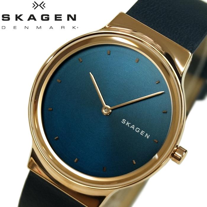 スカーゲン SKAGEN SKW2706 フレジャ時計 腕時計 レディース ネイビー レザー【ID】
