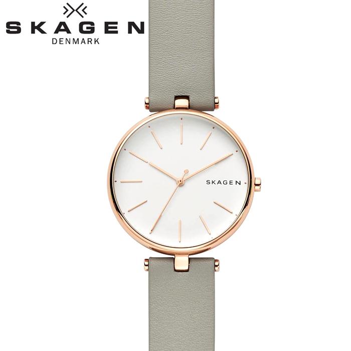 スカーゲン SKAGEN SKW2710 シグネチャー時計 腕時計 レディース グレー レザー【ID】