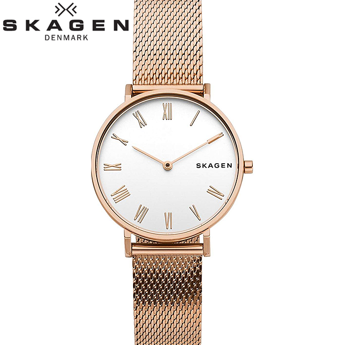 スカーゲン SKAGEN SKW2714 ハルド時計 腕時計 レディース ピンクゴールド メッシュベルト【ID】