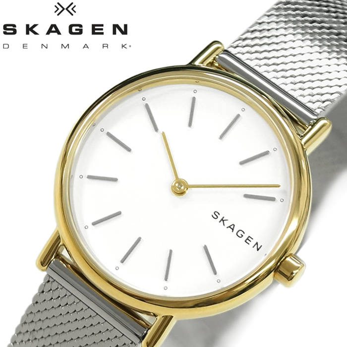 【レビューを書いて5年保証】【サマークリアランス】スカーゲン SKAGEN SKW2729 シグネチャー時計 腕時計 レディース ゴールド シルバー メッシュ ギフト