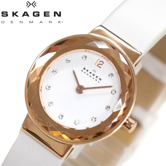 【レビューを書いて5年保証】【サマークリアランス】スカーゲン SKAGEN SKW2769 レオノラ時計 腕時計 レディース ホワイト レザー【0703】 ギフト
