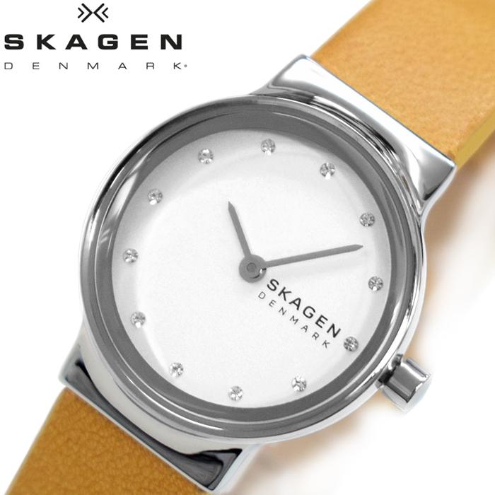 【レビューを書いて5年保証】スカーゲン SKAGEN SKW2776 フレヤ 時計 腕時計 レディース イエロー レザー ギフト
