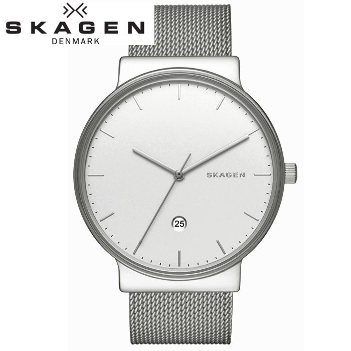 スカーゲン SKAGEN SKW6290 アンカー時計 腕時計 メンズ シルバー メッシュベルト【ID】